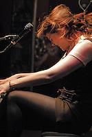 UK singing sensation Kate Nash performs instore concert at Virgin Mega Store NYC