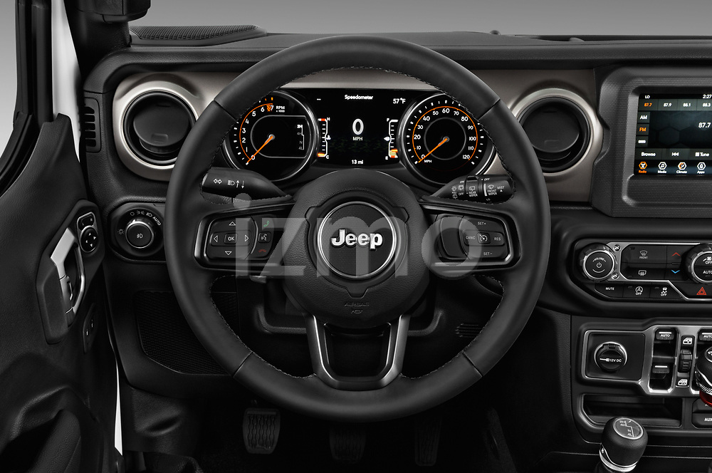 Car pictures of steering wheel view of a 2020 Jeep Wrangler Unlimited Sport 5 Door SUV