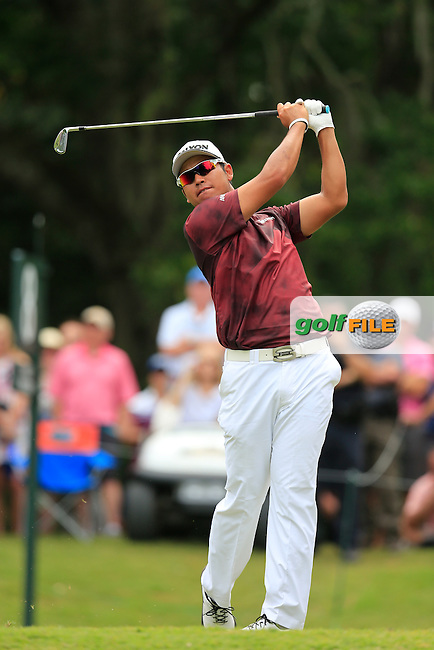 Hideki Matsuyama (JAP) during the final round of the Players, TPC Sawgrass, Championship Way, Ponte Vedra Beach, FL 32082, USA. 15/05/2016.<br /> Picture: Golffile   Fran Caffrey<br /> <br /> <br /> All photo usage must carry mandatory copyright credit (&copy; Golffile   Fran Caffrey)