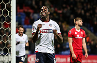 Bolton Wanderers' Clayton Donaldson celebrates scoring his side's third goal <br /> <br /> Photographer Andrew Kearns/CameraSport<br /> <br /> Emirates FA Cup Third Round - Bolton Wanderers v Walsall - Saturday 5th January 2019 - University of Bolton Stadium - Bolton<br />  <br /> World Copyright &copy; 2019 CameraSport. All rights reserved. 43 Linden Ave. Countesthorpe. Leicester. England. LE8 5PG - Tel: +44 (0) 116 277 4147 - admin@camerasport.com - www.camerasport.com