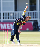 Calum Haggett bowls for Kent during the Vitality Blast T20 game between Kent Spitfires and Gloucestershire at the St Lawrence Ground, Canterbury, on Sun Aug 5, 2018