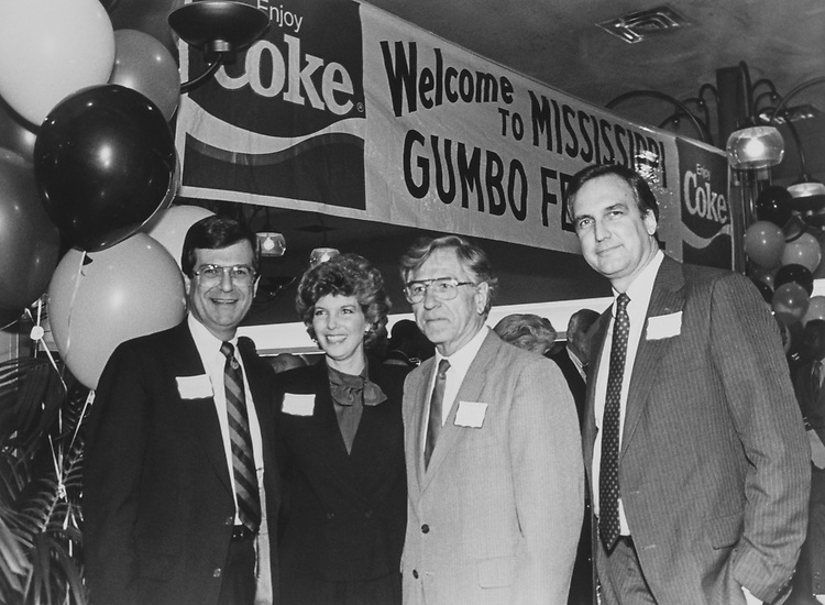 Rep. Trent Lott, R-Miss., Wife, Patricia Thompson, Rep. Neal Edward Smith, D-Iowa., at Gumbo Festival in March 1988. (Photo by /CQ Roll Call via Getty Images)