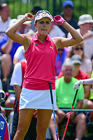 Lexi Thompson (USA) looks over her tee shot on 1 during Saturday's third round of the 72nd U.S. Women's Open Championship, at Trump National Golf Club, Bedminster, New Jersey. 7/15/2017.<br /> Picture: Golffile | Ken Murray<br /> <br /> <br /> All photo usage must carry mandatory copyright credit (&copy; Golffile | Ken Murray)