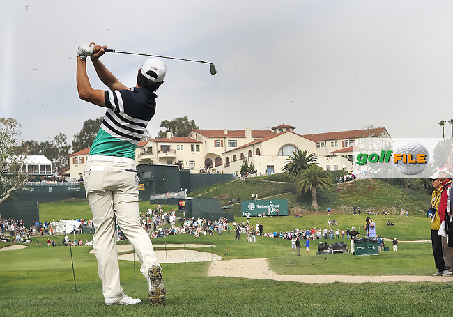 15 FEB 13 Sang Moon Bae from the 9th fairway during Saturday's Third Round of The Northern Trust Open at Riviera Country Club in Pacific Palisades,California. photo credit :  (kenneth e. dennis/kendennisphoto.com)