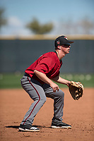 Arizona Diamondbacks third baseman Tony Renda (3) takes infield practice during Spring Training Camp at Salt River Fields at Talking Stick on March 12, 2018 in Scottsdale, Arizona. (Zachary Lucy/Four Seam Images)