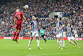 30th September 2017, The Hawthorns, West Bromwich, England; EPL Premier League football, West Bromwich Albion versus Watford; Richarlison of Watford gets a header towards goal