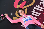 Race leader Bob Jungels (LUX) Quick-Step Floors retains the Maglia Rosa at the end of Stage 8 of the 100th edition of the Giro d'Italia 2017, running 189km from Molfetta to Peschici, Italy. 1th May 2017.<br /> Picture: LaPresse/Gian Mattia D'Alberto | Cyclefile<br /> <br /> <br /> All photos usage must carry mandatory copyright credit (&copy; Cyclefile | LaPresse/Gian Mattia D'Alberto)