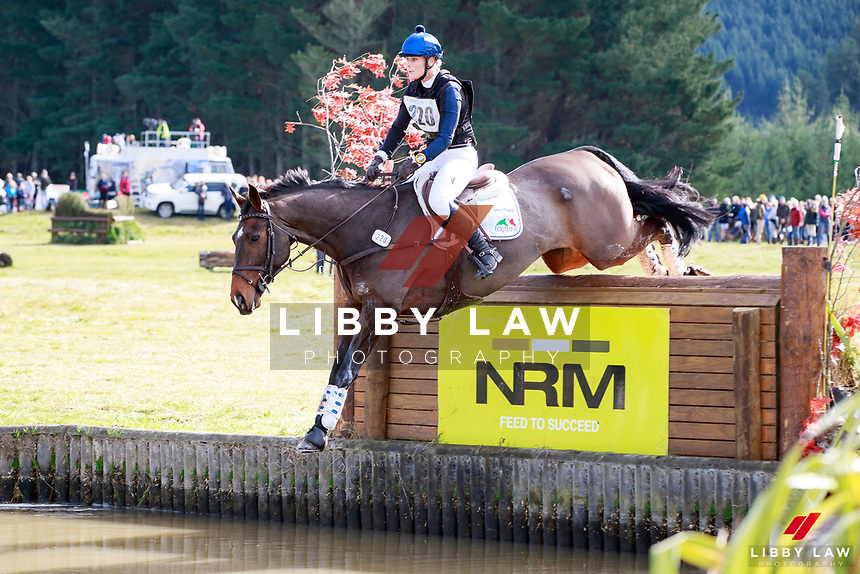 Sarah Young rides Leo Degas during the Bates NZ CCI2* Championship Cross Country at the 2017 NZL-NRM National Three Day Event Championships. National Equestrian Center, Taupo. Saturday 13 May. Copyright Photo: Libby Law Photography