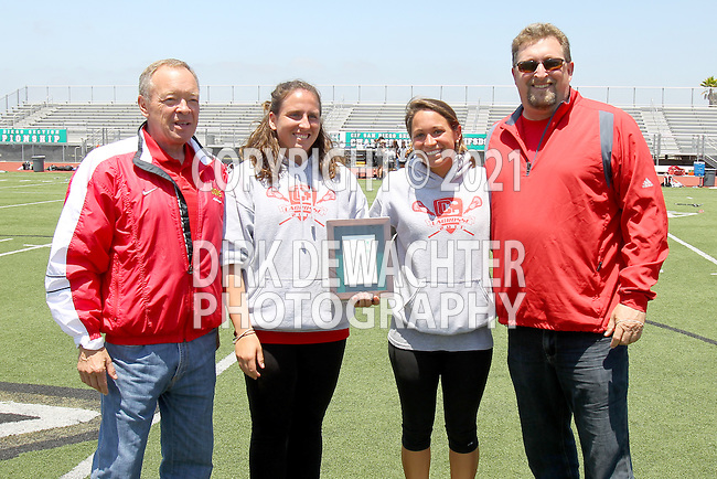 San Diego, CA 05/21/11 - School officials and coaches during the awards ceremony following the 2011 CIF San Diego Division 2 Girls lacrosse finals between Cathedral Catholic and Coronado.