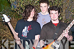 COMPETITION: Shane McFarrelland, Luke Brennan and Jamie Kelly, Ballybunion who took part in the finals of the KDYS Kerry Bands competition in the Presentation School hall, Listowel on Saturday.   Copyright Kerry's Eye 2008
