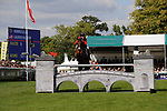 Stamford, Lincolnshire, United Kingdom, 8th September 2019, Lauren Kieffer (USA) & Vermiculus during the Show Jumping Phase on Day 4 of the 2019 Land Rover Burghley Horse Trials, Credit: Jonathan Clarke/JPC Images