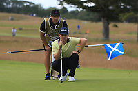 Brandon Stone (RSA) on the 10th during Round 3 of the Aberdeen Standard Investments Scottish Open 2019 at The Renaissance Club, North Berwick, Scotland on Saturday 13th July 2019.<br />