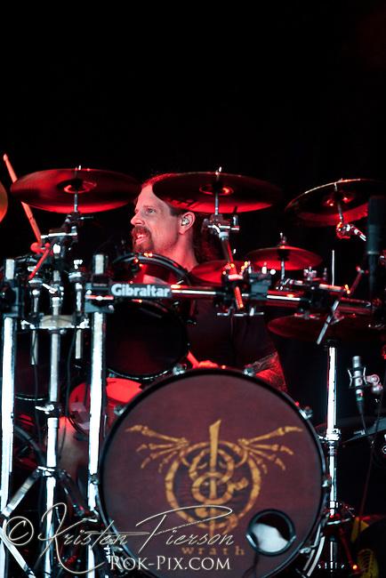 Lamb of God performing at Mayhem 2010