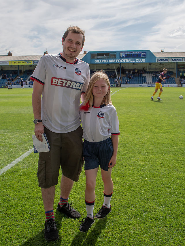 Bolton Wanderers fans <br /> <br /> Photographer David Horton/CameraSport<br /> <br /> The EFL Sky Bet League One - Gillingham v Bolton Wanderers - Saturday 31st August 2019 - Priestfield Stadium - Gillingham<br /> <br /> World Copyright © 2019 CameraSport. All rights reserved. 43 Linden Ave. Countesthorpe. Leicester. England. LE8 5PG - Tel: +44 (0) 116 277 4147 - admin@camerasport.com - www.camerasport.com