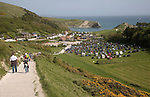 Tourist pressure at the honeypot site of  Lulworth Cove, Dorset, England