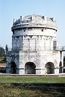 Italy: Ravenna--The Mausoleum of Theodoric. Theodoric D. 526. Photo '83.