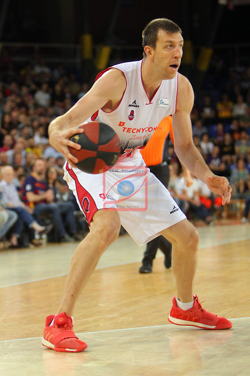 League ACB-ENDESA 201/2019.Game 38.<br /> PlayOff Semifinals.1st match.<br /> FC Barcelona Lassa vs Tecnyconta Zaragoza: 101-59.<br /> Fran Vazquez.