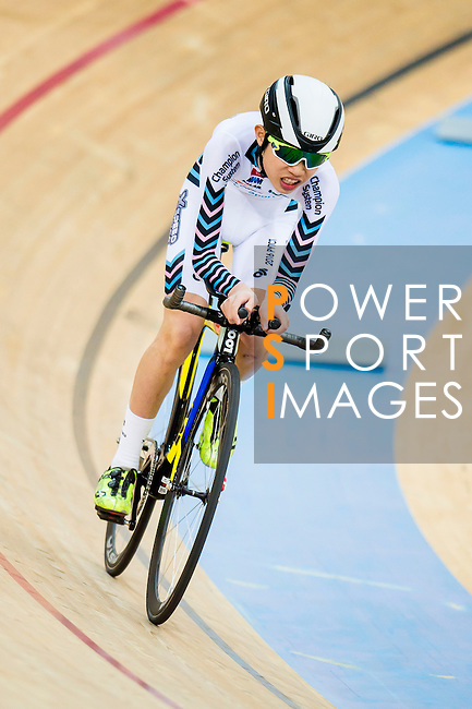 Lau Joseph of X SPEED in action during the  Youth 11-13 1km Time Trial (Qualifying) at the Hong Kong Track Cycling Race 2017 Series 5 on 18 February 2017 at the Hong Kong Velodrome in Hong Kong, China. Photo by Marcio Rodrigo Machado / Power Sport Images