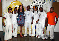 SAO PAULO, SP, 09 FEVEREIRO 2013 - Megan Fox, a estrela internacional do Camarote Brahma 2013, conhece o projeto social  Jovens de Responsa, parceria entre a Ambev e a UNAS, associação de moradores de Heliópolis, comunidade da zona sul de São Paulo , neste sabado, 09. (FOTO: ALAN MORICI / BRAZIL PHOTO PRESS).