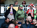Sheffield Utd fans during the English League One match at  Stadium MK, Milton Keynes. Picture date: April 22nd 2017. Pic credit should read: Simon Bellis/Sportimage