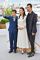 Tao Zha, Zhangke Jia, and Fan Liao at the photocall for &quot;Ash is the Purest White&quot; at the 71st Festival de Cannes, Cannes, France 12 May 2018<br /> Picture: Paul Smith/Featureflash/SilverHub 0208 004 5359 sales@silverhubmedia.com