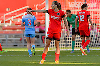 Bridgeview, IL - Sunday June 12, 2016: Tobin Heath during a regular season National Women's Soccer League (NWSL) match between the Chicago Red Stars and the Portland Thorns at FC Toyota Park.