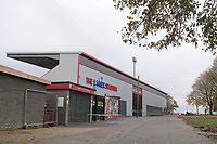 General view of the new North Stand during Stevenage vs Peterborough United, Emirates FA Cup Football at the Lamex Stadium on 9th November 2019