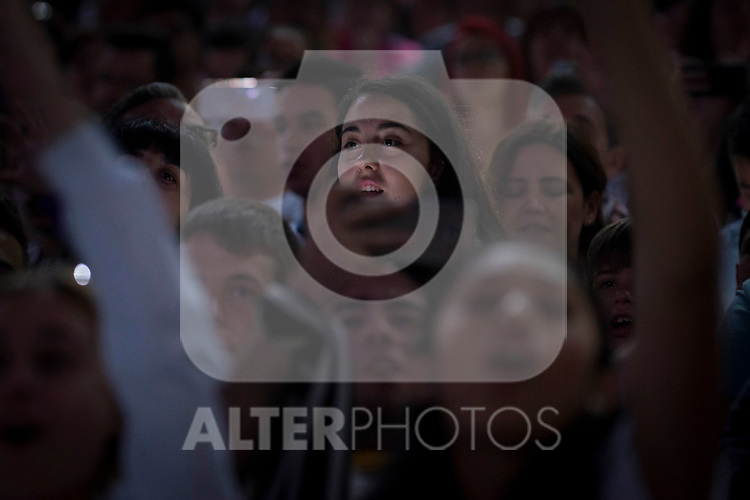 Supporters during the celebration of the 13th UEFA Championship at Santiago Bernabeu Stadium in Madrid, June 04, 2017. Spain.<br /> (ALTERPHOTOS/BorjaB.Hojas)
