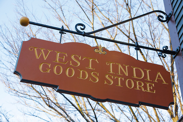 West India Goods Store at Salem Maritime National Historic Site, which was the first National Historic Site in the National Park System. Located in Salem, Massachusetts USA