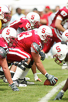 Drew Caylor during the Spring Game on April 26, 2003 at Stanford Stadium.<br />