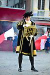 Francis Huster est l&rsquo;invit&eacute; d&rsquo;honneur de l&rsquo;&eacute;dition 2014 du spectacle historique de l&rsquo;Ommegang, a la Grand Place de Bruxelles.<br />  Belgique, Bruxelles, 03 juillet, 2014.