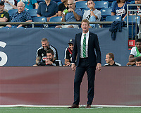 FOXBOROUGH, MA - JUNE 26: Jim Curtin during a game between Philadelphia Union and New England Revolution at Gillette Stadium on June 26, 2019 in Foxborough, Massachusetts.