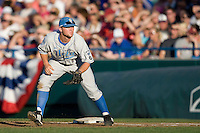 UCLA 1B Dean Espy in Game Two of the NCAA Division One Men's College World Series Finals on June 29th, 2010 at Johnny Rosenblatt Stadium in Omaha, Nebraska.  (Photo by Andrew Woolley / Four Seam Images)