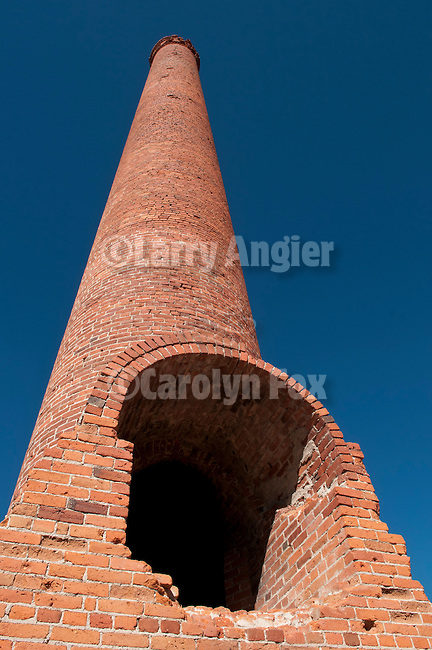 Old gold mill chimney