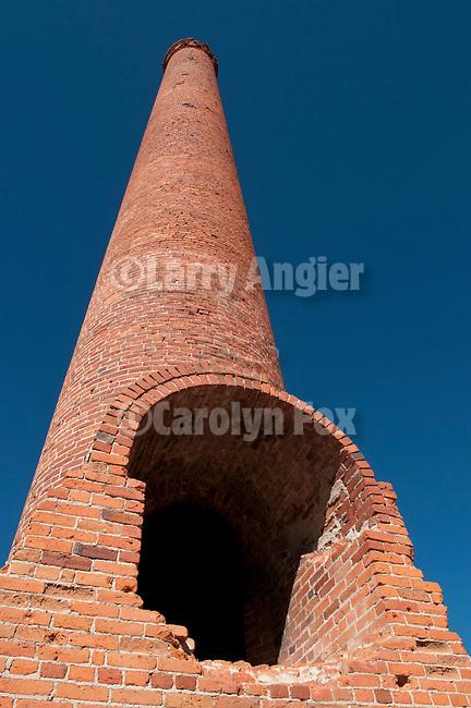 Old gold mill chimney