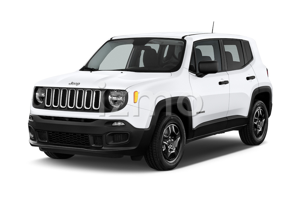 2017 JEEP Renegade Sport 5 Door Suv Angular Front stock photos of front three quarter view