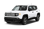 2015 JEEP Renegade Sport 5 Door Suv Angular Front stock photos of front three quarter view