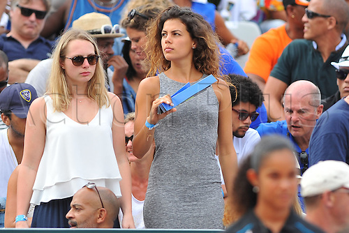 05.03.2016. Vélodrome Amédée Detraux, Guadeloupe, France. Davis Cup 1st round. France versus Canada.  Jo Wilfried Tsonga's girlfriend Noura with friend