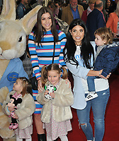 "Imogen Thomas and Cara De La Hoyde with their children at the ""Where Is Peter Rabbit?"" musical press night, Theatre Royal Haymarket, Suffolk Street, London, England, UK, on Tuesday 09th April 2019.<br /> CAP/CAN<br /> ©CAN/Capital Pictures"