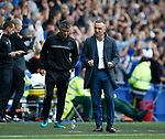 Carlos Carvalhal manager of Sheffield Wednesday celebrates their first goal during the Championship match at the Hillsborough Stadium, Sheffield. Picture date 24th September 2017. Picture credit should read: Simon Bellis/Sportimage