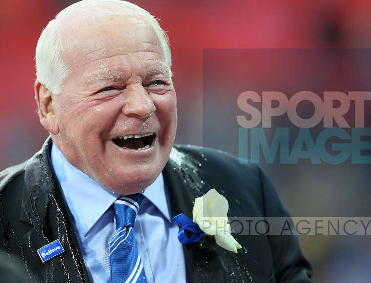 Wigan's chairman Dave Whelan celebrates at the end..- FA Cup Final - Manchester City vs Wigan Athletic - Wembley Stadium - London - 11/05/2013 - Pic David Klein/Sportimage
