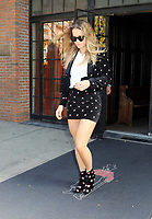 www.acepixs.com<br /> <br /> October 31 2017, New York City<br /> <br /> Singer Rita Ora wears a super short skirt and matching boots as she leaves a downtown hotel on October 31 2017 in New York City<br /> <br /> By Line: Philip Vaughan/ACE Pictures<br /> <br /> <br /> ACE Pictures Inc<br /> Tel: 6467670430<br /> Email: info@acepixs.com<br /> www.acepixs.com
