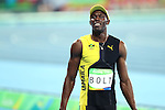Usain Bolt (JAM),<br /> AUGUST 14, 2016 - Athletics : <br /> Men's 100m Final<br /> at Olympic Stadium <br /> during the Rio 2016 Olympic Games in Rio de Janeiro, Brazil. <br /> (Photo by Koji Aoki/AFLO SPORT)