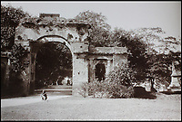 BNPS.co.uk (01202 558833)<br /> Pic: CanterburyAuctionGalleries/BNPS<br /> <br /> The Bailey Guard Gate at Lucknow in Uttar Pradesh, India.<br /> <br /> A Scottish photographer's stunning collection of photos of India and Afghanistan in the 1880s have been unearthed after 130 years.<br /> <br /> G.W Lawrie set up a studio in Lucknow, northern India in the 1880s and took captivating black and white photos of his new surroundings.<br /> <br /> Included in the collection of 40 photos are views of lavish temples including the King of Oudh's palace in Lucknow, opulent buildings and beautiful scenery.<br /> <br /> However, Lawrie was also interested in the native population and took photos of them going about their everyday lives.