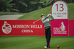 Song Yi Ahn of South Korea tees off at 13th hole during Round 3 of the World Ladies Championship 2016 on 12 March 2016 at Mission Hills Olazabal Golf Course in Dongguan, China. Photo by Lucas Schifres / Power Sport Images