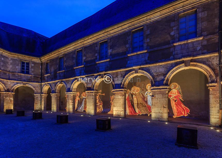 France, Cher (18), Bourges, le couvent des Augustins durant les Nuits Lumières // France, Cher, Bourges, Augustinian convent during the Nuits Lumières