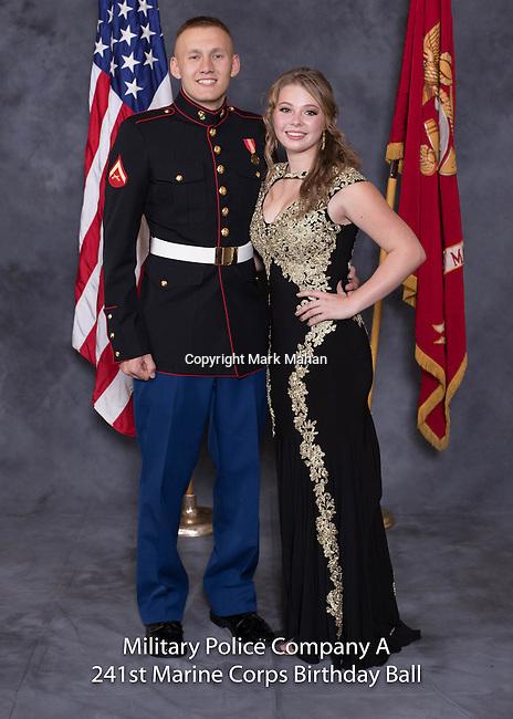 Jacob Freeman at the Military Police Company A 241 Marine Corps Birthday Ball, Saturday Nov. 19, 2016  in Lexington, Ky. Photo by Mark Mahan