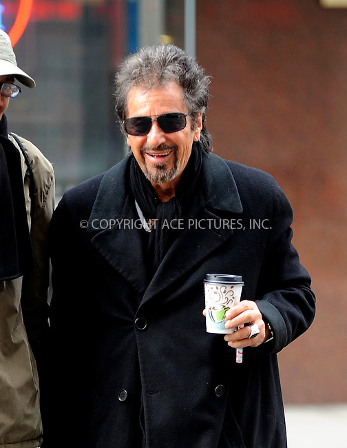 WWW.ACEPIXS.COM<br /> <br /> January 22 2015, New York City<br /> <br /> Actor Al Pacino made an appearance at radio station 'NPR' on January 22 2015 in New York City<br /> <br /> By Line: Curtis Means/ACE Pictures<br /> <br /> <br /> ACE Pictures, Inc.<br /> tel: 646 769 0430<br /> Email: info@acepixs.com<br /> www.acepixs.com