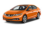2015 Honda Civic Si 4 Door Sedan angular front stock photos of front three quarter view