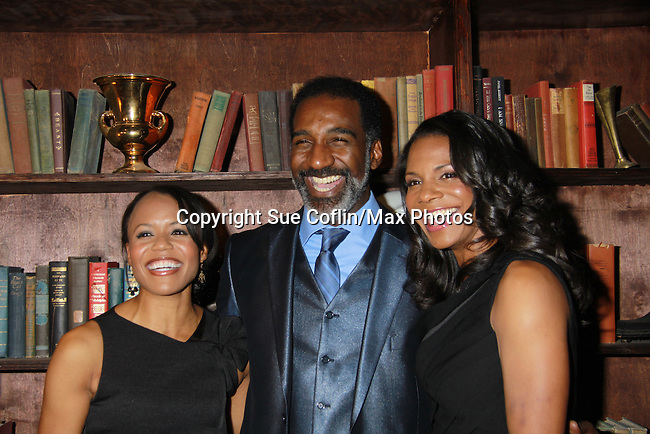 "All My Children Norm Lewis and Audra McDonald star as ""Porgy and Bess"" and post with castmate Nikki Renee Daniels in The Gershwins' Porgy and Bess on Opening Night - January 12, 1212 at the Richard Rogers Theatre, New York City, New York.  (Photo by Sue Coflin/Max Photos)"